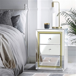 Artiss Mirrored Furniture Bedside Table