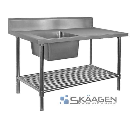 Unused Single Left 2400 x 600 Stainless Steel Sink FSA-1-2400L