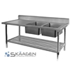 Unused Double Right 2200 x 600 Stainless Steel Sink FSA-2-2200R