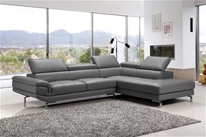 5 Seater Lounge Set Grey Colour Leathere