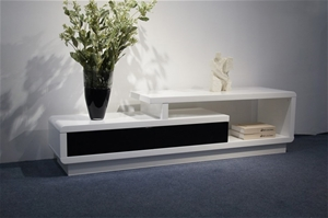 This elegant TV cabinet comes White High