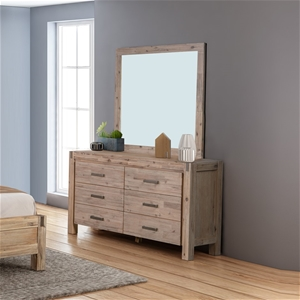 Dresser with 6 Storage Drawers in Acacia