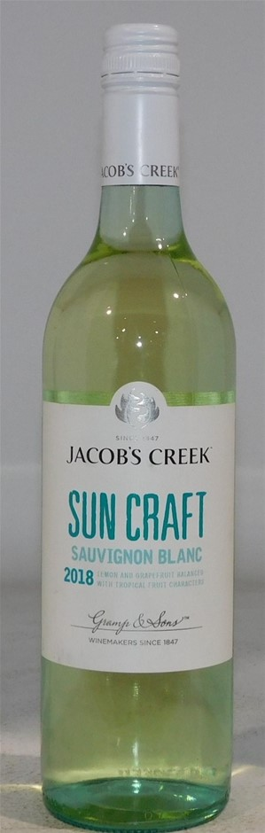 Jacobs Creek Suncraft Sauvignon Blanc 2018 (6x 750mL) SA