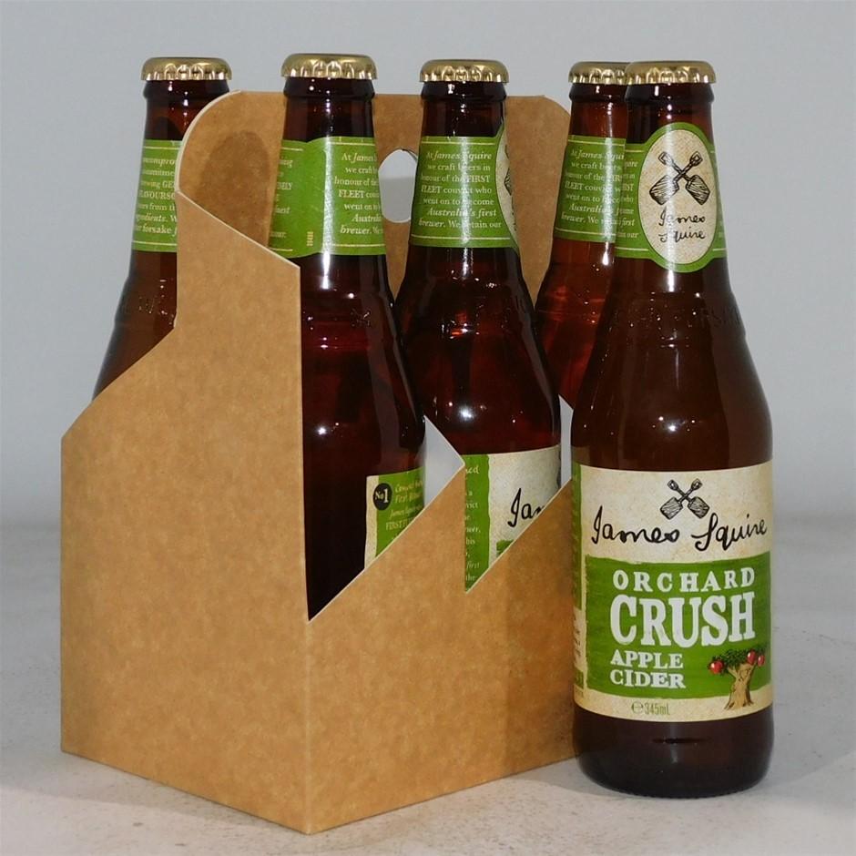 James Squire Orchard Crush Apple Cider Bottle (24x 345mL), Aus