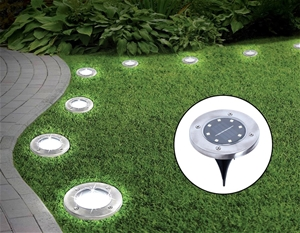12x Solar Powered LED Buried Inground Re