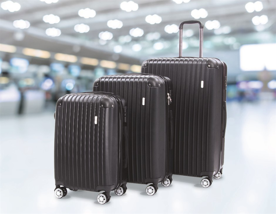 """Delegate Suitcases Luggage Set 20"""" 24"""" 28""""Carry On Trolley TSA Travel Bag"""