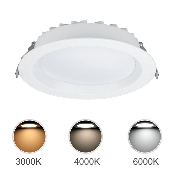 FL5516 - FUZION LIGHTING - Dimmable LED Downlight Lunar - White Finish