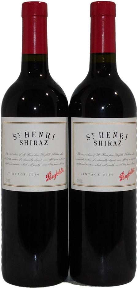 Penfolds `St Henri` Shiraz 2010 (2 x 750mL), SA.