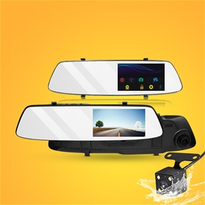 "4.3 "" Mirror Dash Camera 1080p HD Car Ca"