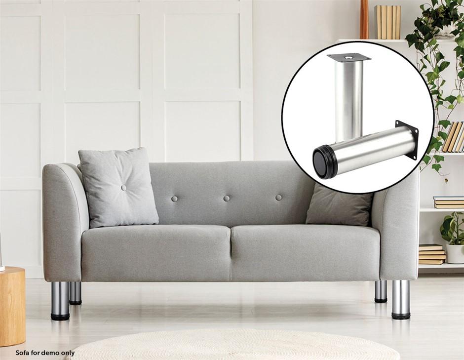 4x 15cm Adjustable Round Cupboard Table Sofa Bed Feet Furniture Leg