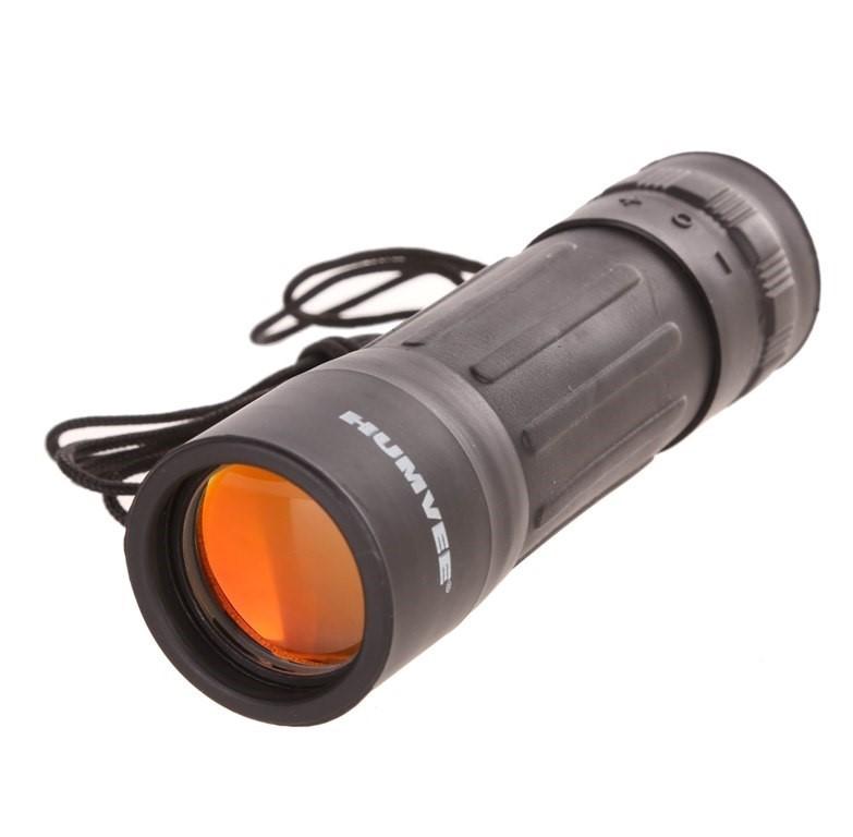HUMVEE 10 x 25 Monocular, Neck Lanyard, Red Glass Lenses. Buyers Note - Dis