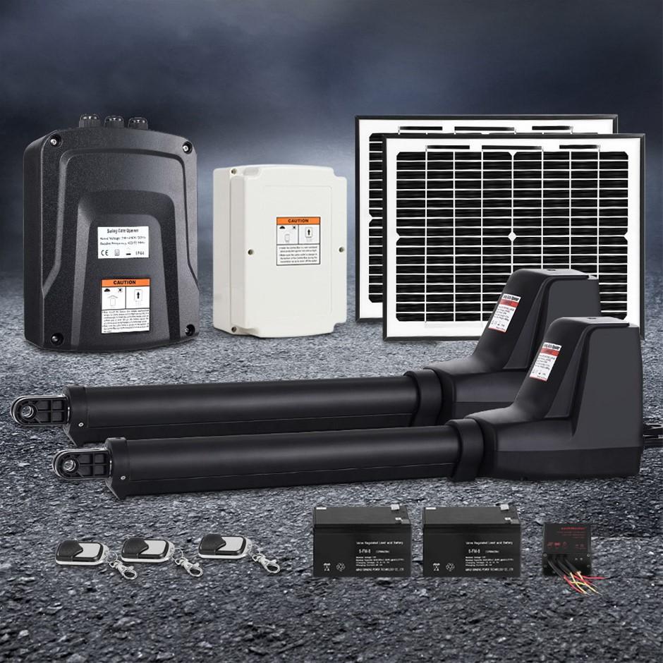 LockMaster Swing Gate Opener Auto 20W Solar Power Electric 1000KG