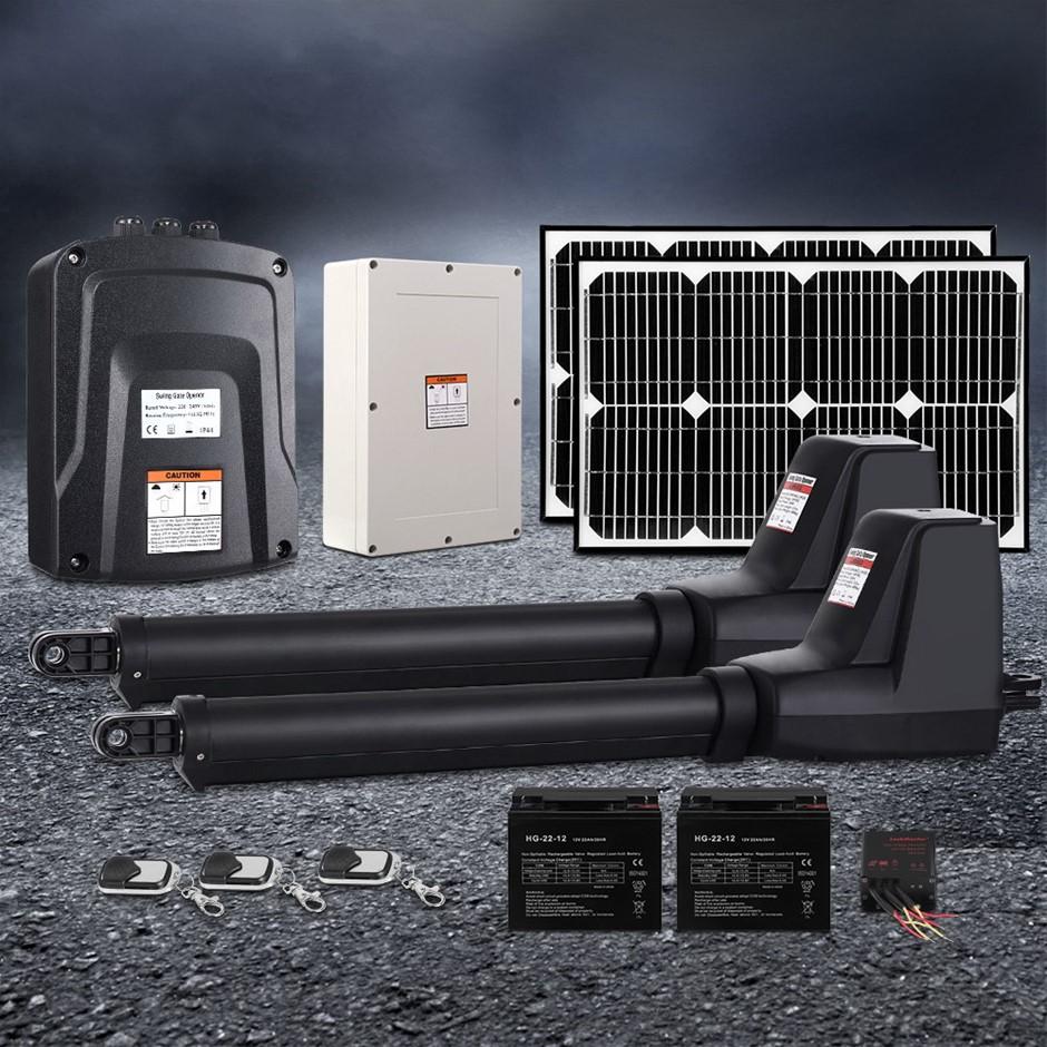 LockMaster Swing Gate Opener Auto 40W Solar Power Electric 1000KG