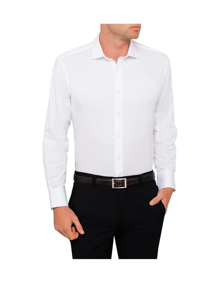 VAN HEUSEN Washed Carbon Peach Twill Euro Fit Shirt. Size 44, Colour: White