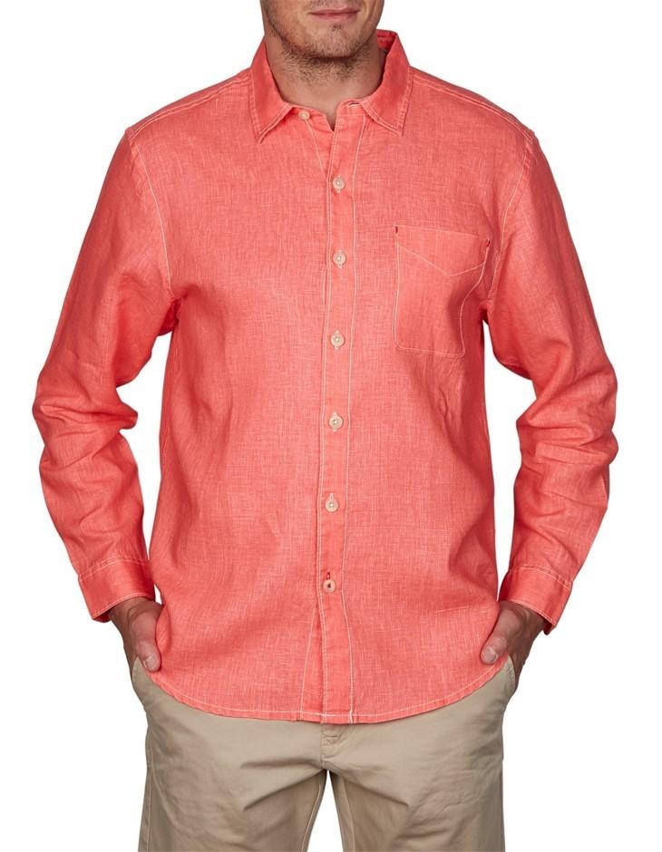 TOMMY BAHAMA Sea Glass Breezer. Size M, 100% Linen Long Sleeve Shirt, Colou