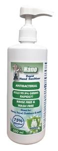24 x Nano 500ml Antibacterial Rapid Hand