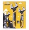 STANLEY 3pc Wide Mouth Wrenches 150mm x 25mm, 200mm x 30mm & 250mm x 35mm.