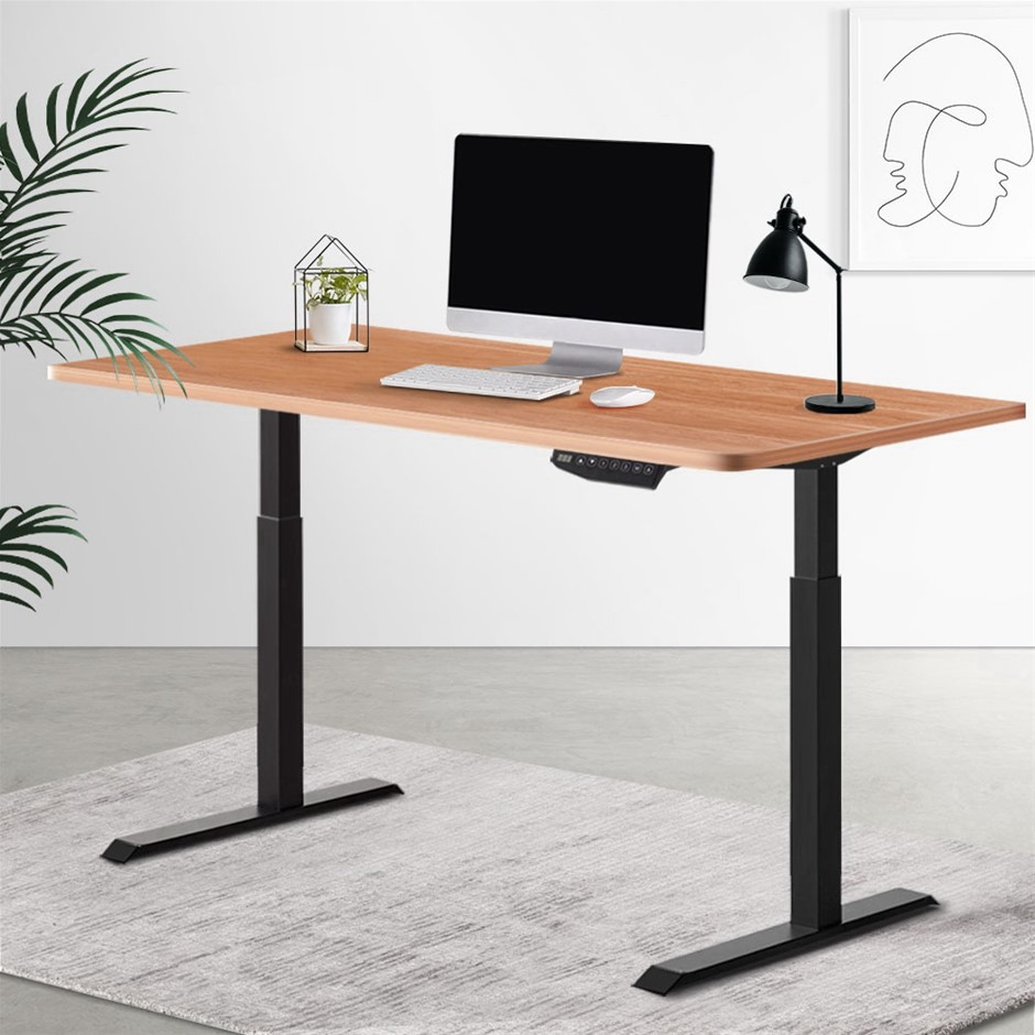 Artiss Standing Desk Sit Stand Motorised Electric Computer Laptop Table
