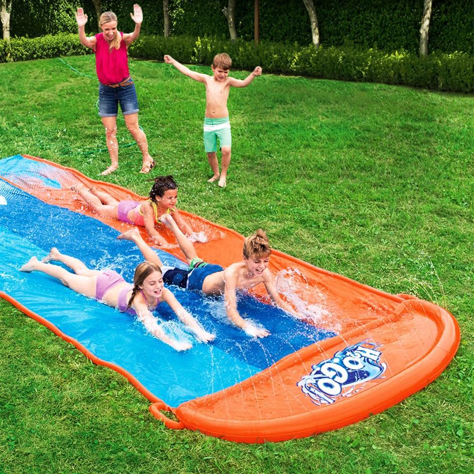 Bestway Water Slip And Slide Kids Inflatable Splash Outdoor Triple 4.88M