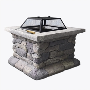 Grillz Fire Pit Table Outdoor BBQ Grill
