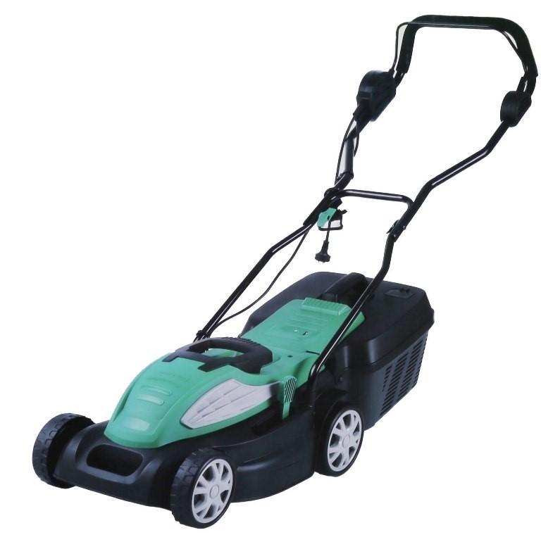Leading Retail Brand Electric Lawn Mower 1400W, Cutting Width 34cm, 5 x Adj