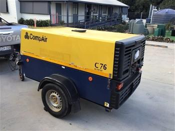 2015 Compair C76 Trailer Mounted Air Compressor