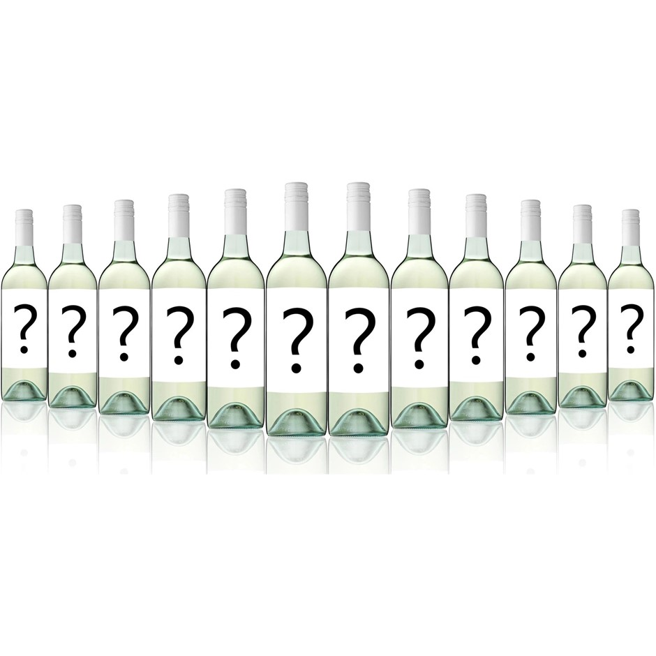 Mystery Big Brand Export Label Crisp Dry White 2017 (12x 750mL)