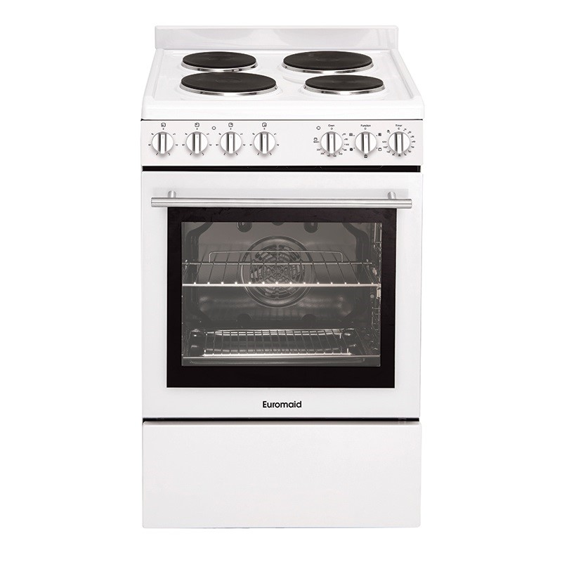 Euromaid Electric Single cavity Oven + Solid Cooktop (GG54SSW)