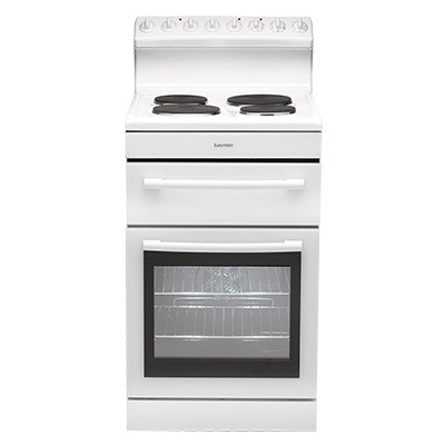 Euromaid Electric Oven + Solid Cooktop (R54EW)