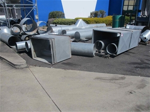 Large Qty Galvanised Ducting Components