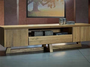 1 x BUBBLE-WRAPPED GUADIANA Solid Oak TV