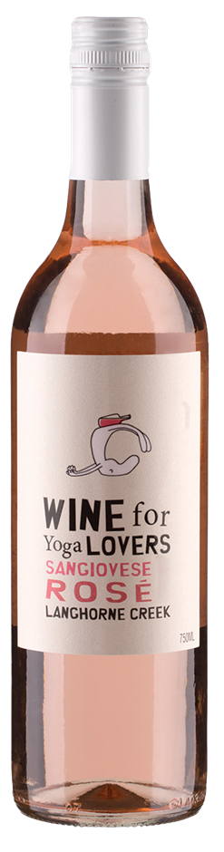 Wine For Yoga Lovers Sangiovese Rose 2018 (12 x 750mL) Langhorne Creek, SA