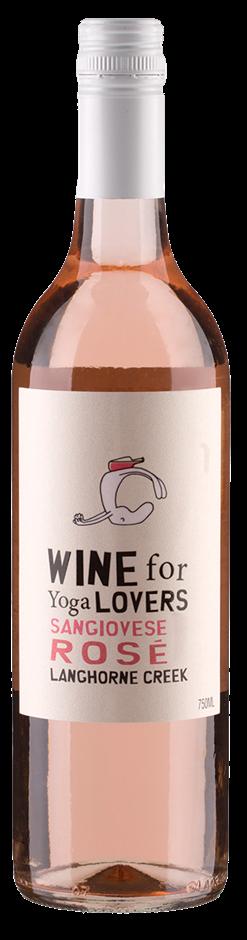 Wine For Yoga Lovers Sangiovese Rose 2018 (12 x 750mL) Langhorne Creek, SA
