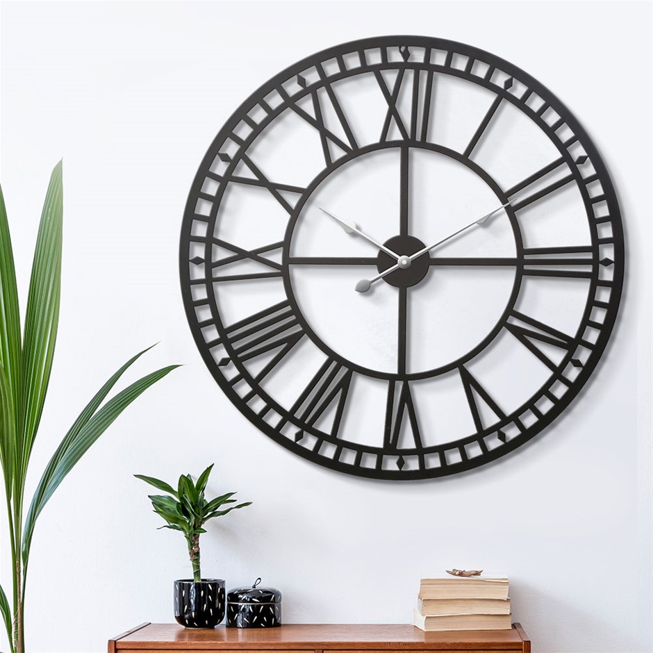 Wall Clock Extra Large Modern Silent No Ticking Movements 3D - 60cm