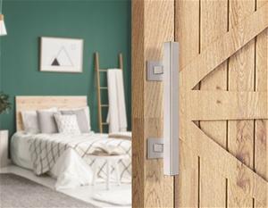 """12"""" Square Pull & Flush Door Handle Set"""