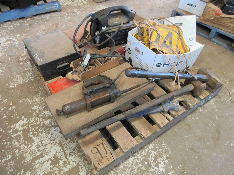 Pallet of Assorted Tools Including