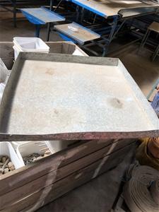 Galvanised Tray 650mm X 650mm X 50mm