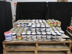 Large Quantity of 500ml Assorted Paint