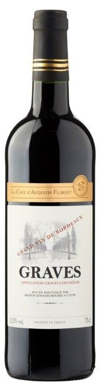 La Cave d'Augustin Grand Vin de Bourdeaux 2018 (6x 750mL) Graves AOC. Cork