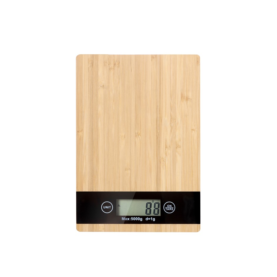Gourmet Kitchen Bamboo Square Kitchen scale - Natural Brown