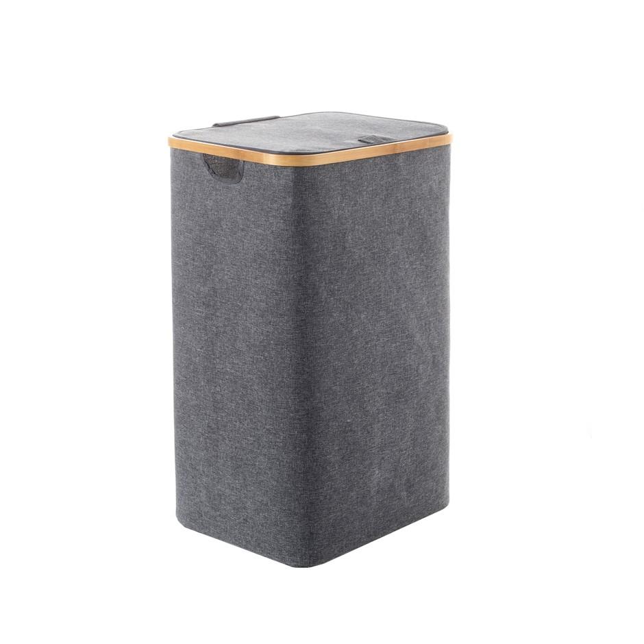 Sherwood Linen & Bamboo Rectangular Long Laundry Bag with Cover 40*33*67cm