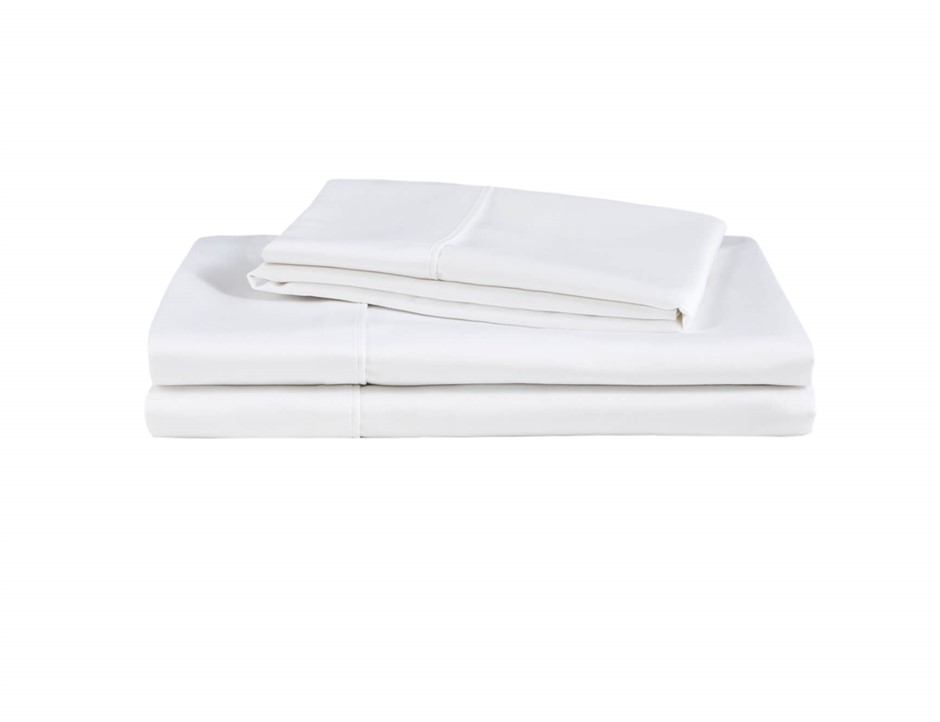Natural Home Organic Cotton Sheet Set Queen Bed WHITE
