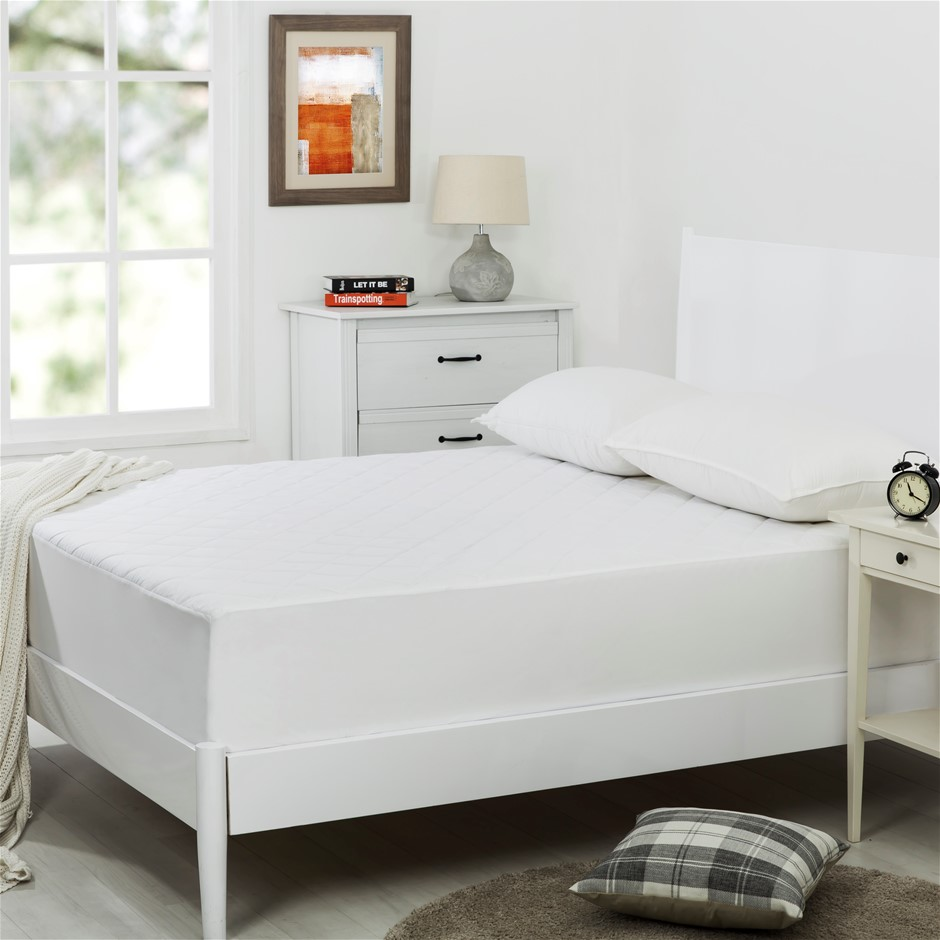 Dreamaker Quilted Cotton Cover Mattress Protector Double Bed