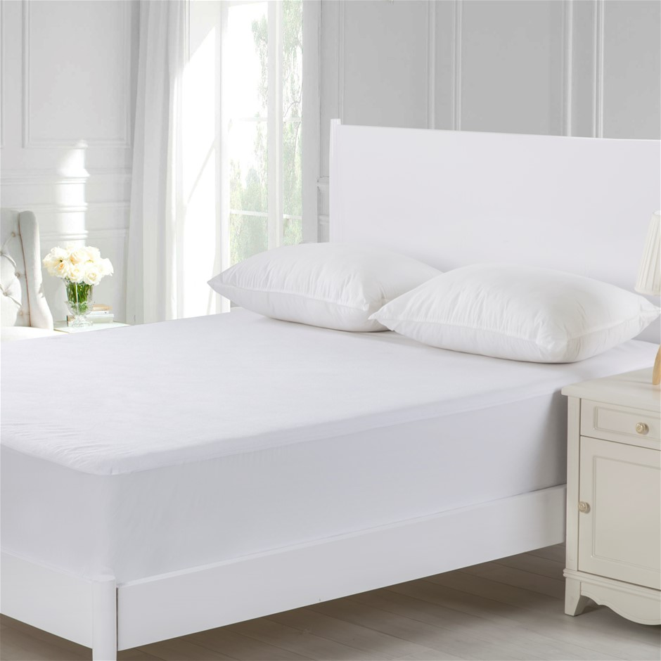 Dreamaker Cotton Terry Towelling Waterproof Mattress Protector Queen Bed