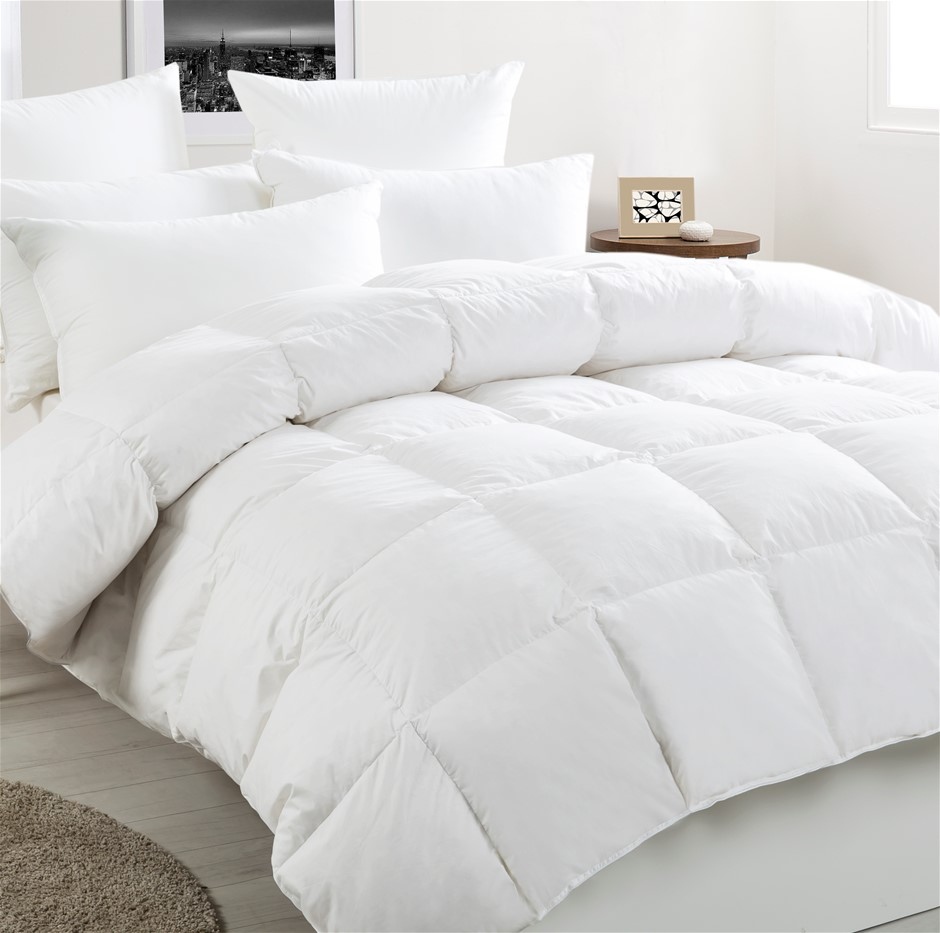 Dreamaker White Duck Down & Feather Winter Quilt Single Bed