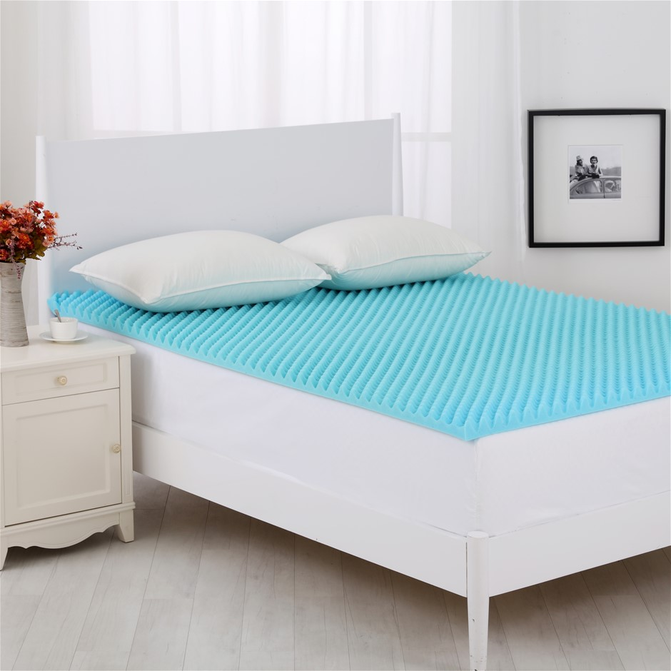 Dreamaker Gel Infused Convoluted Memory Foam Underlay King Single Bed