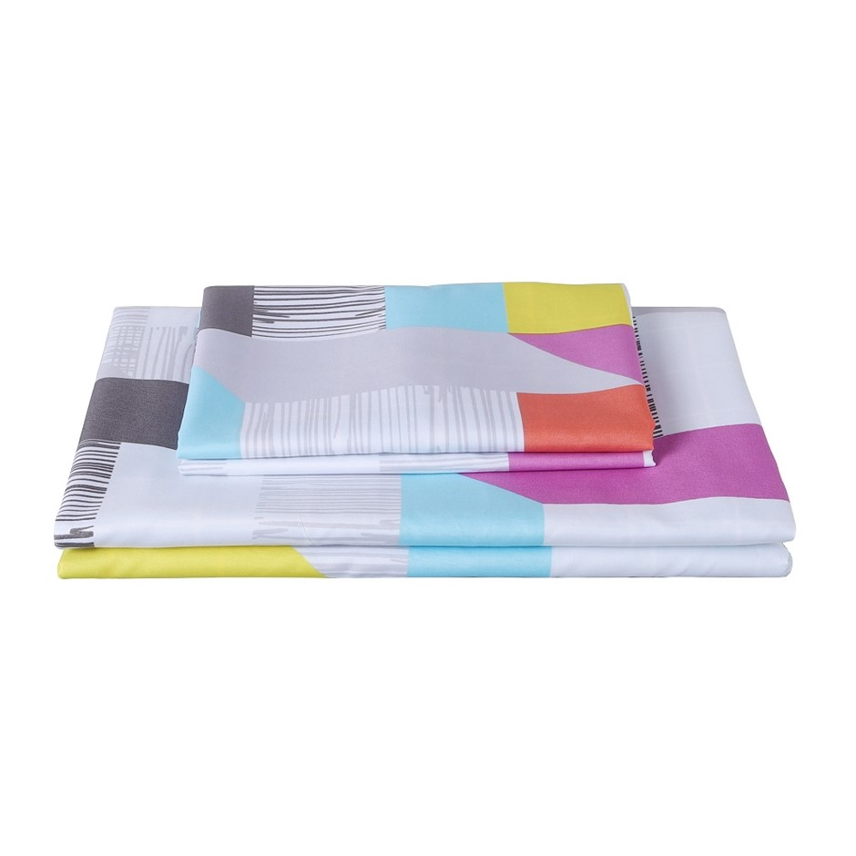 Dreamaker Printed Microfibre Quilt Cover Set King Single Bed Milton