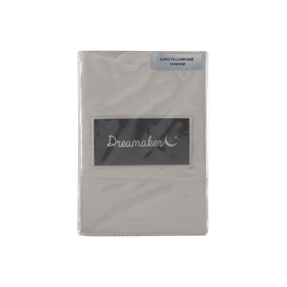 Dreamaker Cotton Sateen 1000TC euro pillowcase Twin Pack Oyster