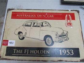 The FJ Holden 1953 Sedan Tin Sign