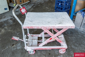 Manual Hydraulic Mobile Platform Trolley